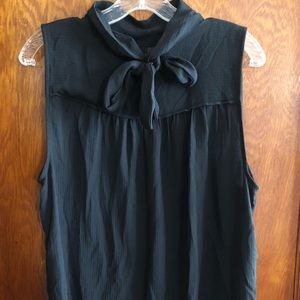 Sheer pussy bow blouse